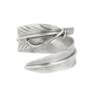 Navajo Indian Jewelry Feather Ring -Sterling Silver-