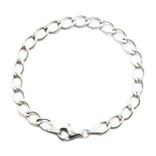 Vintage Sterling Silver 925 Cuban Link Chain Bracelet