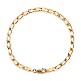 Vintage Italy Gold Chain Bracelet -Sterling Silver 925-