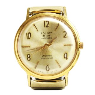 1960's POLJOT de luxe Russian Soviet Wrist Watch -USSR-