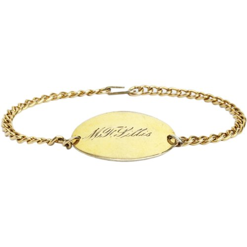 Vintage 1940's WW� Military ID Bracelet -Gold Filled-
