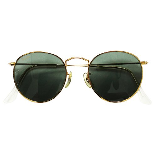【Dead Stock】Vintage 80's Bausch&Lomb Round Metal Sunglasses -Made in USA-