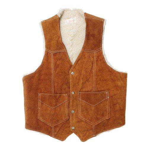 Vintage 60's Suede Boa Vest