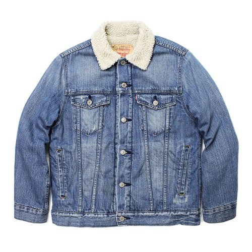 Vintage 90's Levi's Denim Boa Jacket