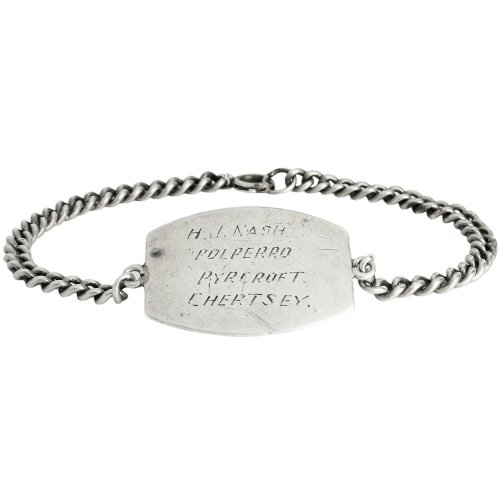 Vintage 1930's WW� Military ID Bracelet -Sterling Silver-