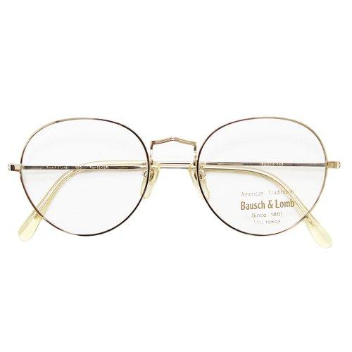 【Dead Stock】Vintage 70's Bausch&Lomb 12KGF Round Eyeglasses