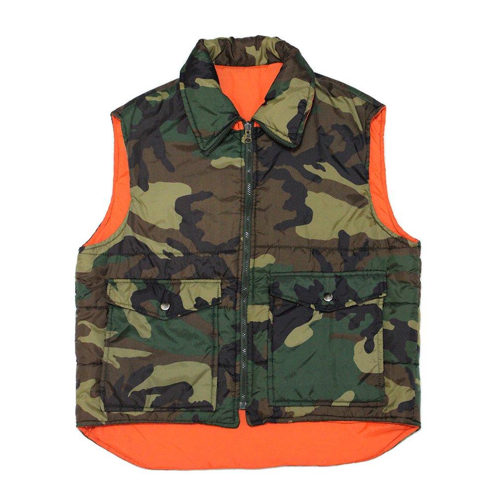 Vintage 80's Camouflage Reversible Vest
