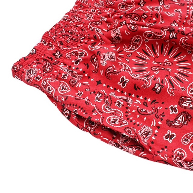 COOKMAN Chef Short Pants Paisley RED 11