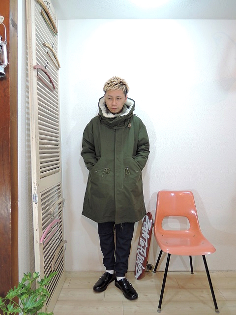 "outer/SUNNY SPORTS-M-51 3WAY COAT(SIZE FREE)pants/modem design-BOMBER HEAT PANTS(M-1707258)(SIZE 2)shoes/MANEBU-""ROAR""FACE SKIN(SIZE 40)を使ったコーディネート"