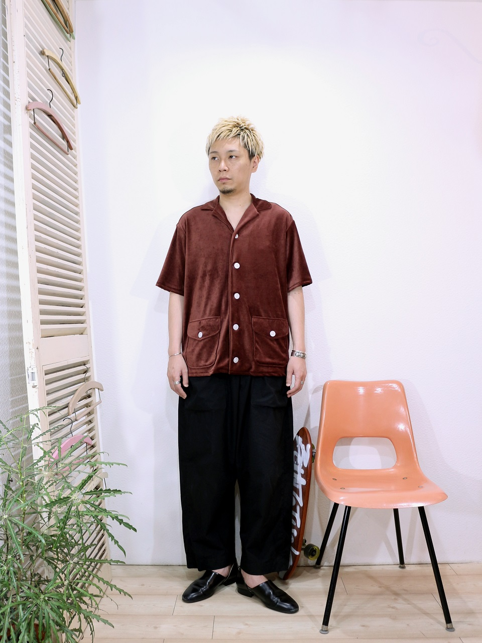 shirt/TOWN CRAFT-VEROUR BEACH SHIRTS(SIZE M)pants/odorlesstasteless-WEATHER DUCK(SIZE 02)を使ったコーディネート