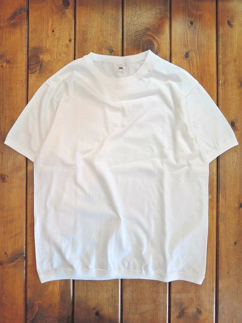 【FRUIT OF THE LOOM】リブ付き SHORT SLEEVE TEE【DM便発送可能】