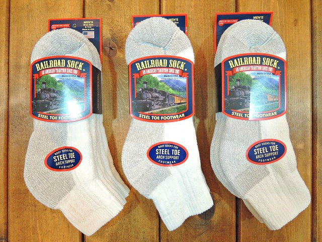 【RAILROAD SOCK】STEEL TOE 3-PACK SOCKS(QUARTER)