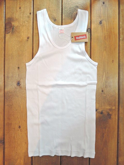 【Healthknit】BASIC RIB TANK TOP【DM便発送可能】