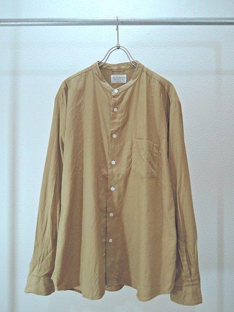 【MANUAL ALPHABET】ビエラLOOSE FIT バンドカラーシャツ:メイン画像