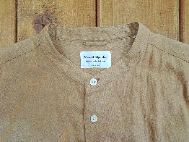 【MANUAL ALPHABET】ビエラLOOSE FIT バンドカラーシャツ:画像2