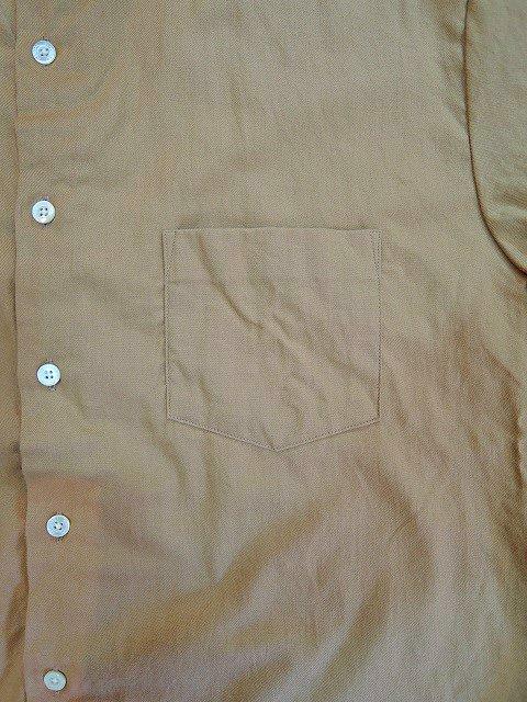 【MANUAL ALPHABET】ビエラLOOSE FIT バンドカラーシャツ:画像3