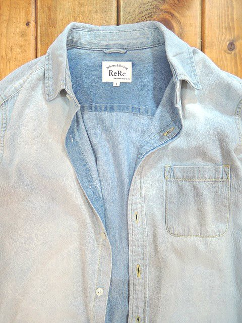【ReRe】R-PATCHWORK DENIM SHIRTS:画像2