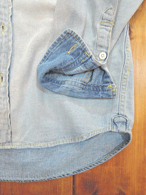 【ReRe】R-PATCHWORK DENIM SHIRTS:画像3