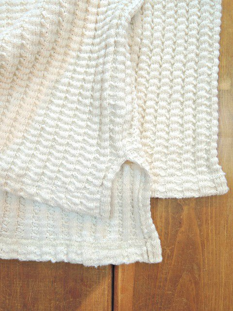 【MANUAL ALPHABET】ROUNGH KNITTED SW:画像3