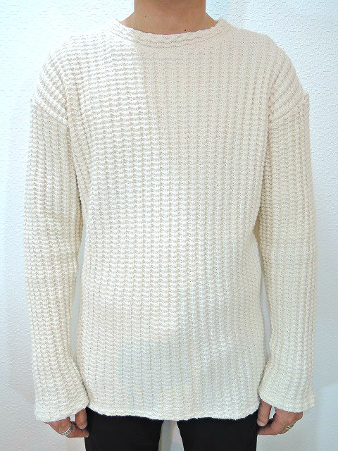【MANUAL ALPHABET】ROUNGH KNITTED SW:画像4