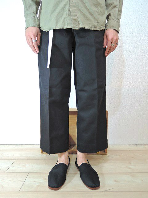 【ReRe】BD WIDE CROPPED PANTS:画像3
