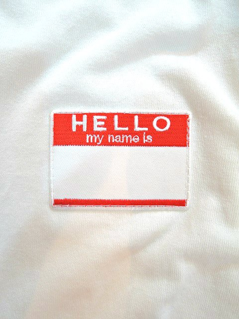 【ReRe】HELLO PATCH L/S ROUND TEE【DM便発送可能】:画像2