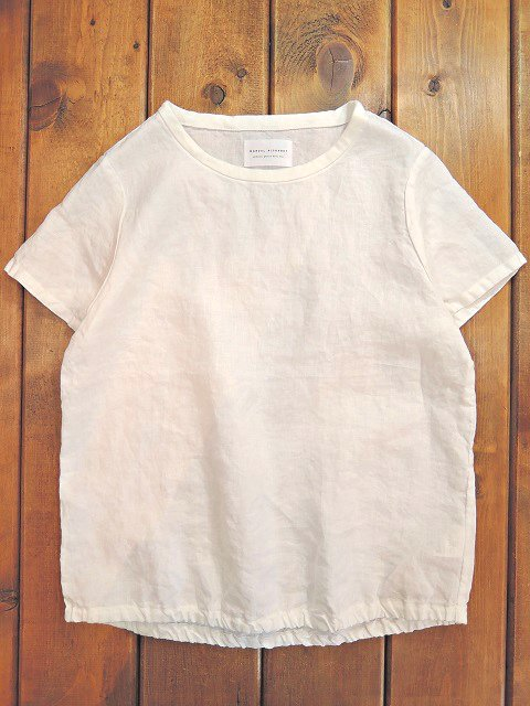 【MANUAL ALPHABET】O/D LINEN TEE(WOMEN)