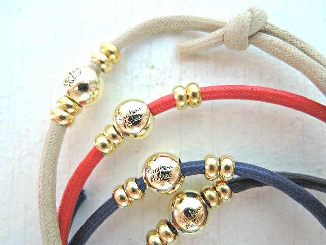 【JACKSON MATISSE】WAXED CORD ANKLET【DM便発送可能】:画像4
