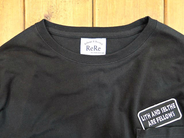 【ReRe】PATCH S/S LOOSE POCKET TEE【DM便発送可能】:画像2