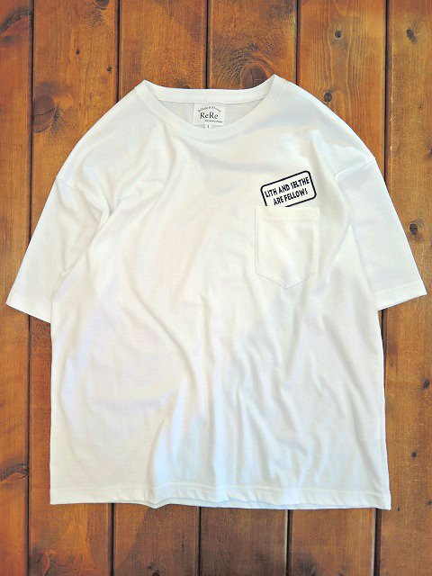 【ReRe】PATCH S/S LOOSE POCKET TEE【DM便発送可能】
