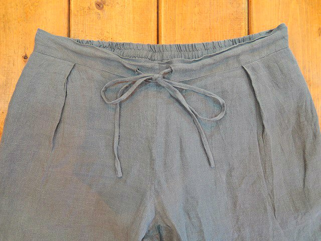 【Badhiya】1 TUCK PANTS -LINEN-:画像2