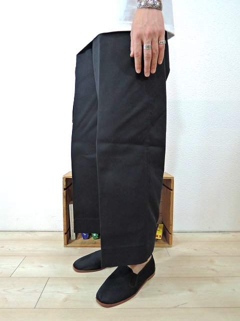 【ReRe】BD G-WIDE CROPPED PANTS:画像4