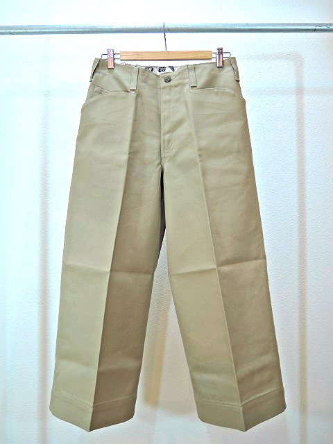 【ReRe】BD G-WIDE CROPPED PANTS:メイン画像