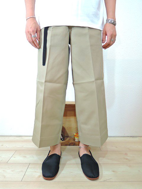 【ReRe】BD G-WIDE CROPPED PANTS:画像3