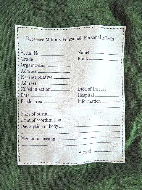 【U.S. MILITARY】PERSONAL EFFECTS BAG【DM便発送可能】:画像3