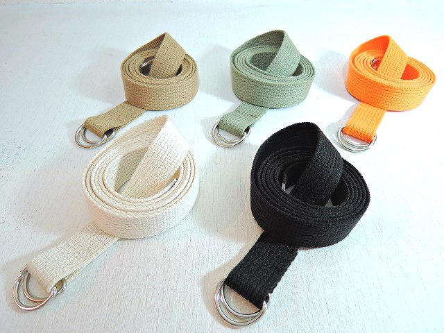 【ReRe】D RING NARROW TAPE BELT