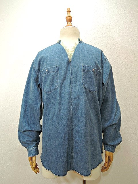 【MANUAL ALPHABET】POETS DENIM SHT:画像1
