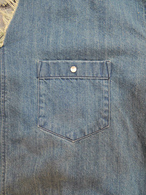 【MANUAL ALPHABET】POETS DENIM SHT:画像3