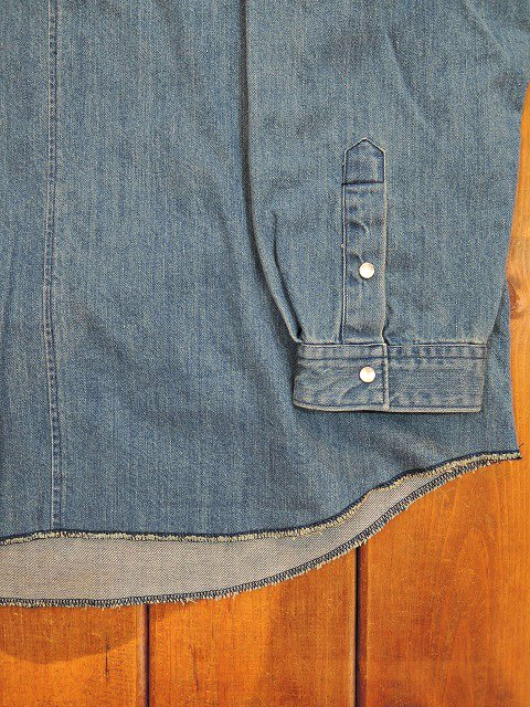 【MANUAL ALPHABET】POETS DENIM SHT:画像4