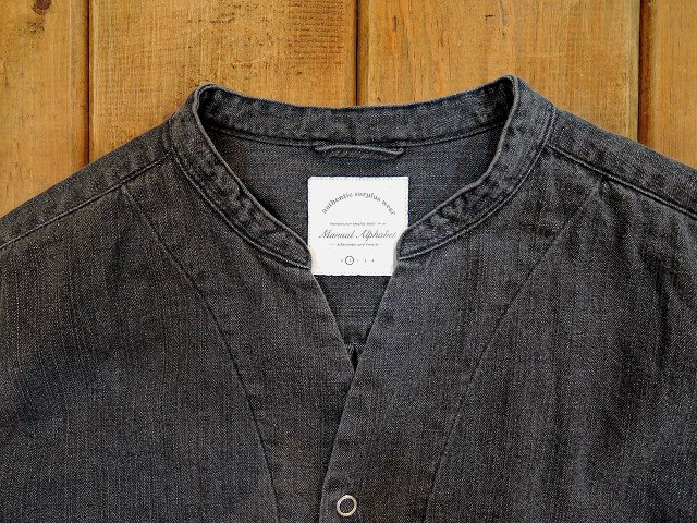 【MANUAL ALPHABET】8oz DENIM V-NECK CARDIGAN:画像2