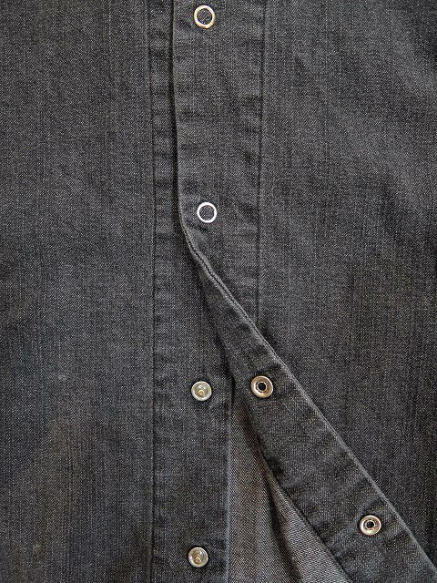 【MANUAL ALPHABET】8oz DENIM V-NECK CARDIGAN:画像3