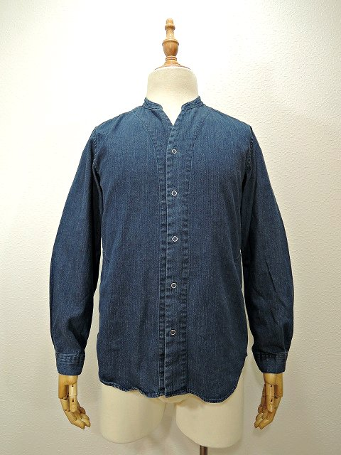 【MANUAL ALPHABET】8oz DENIM V-NECK CARDIGAN:メイン画像