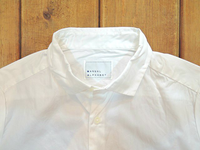 【MANUAL ALPHABET】BROAD BASIC SHIRT(WOMEN):画像2