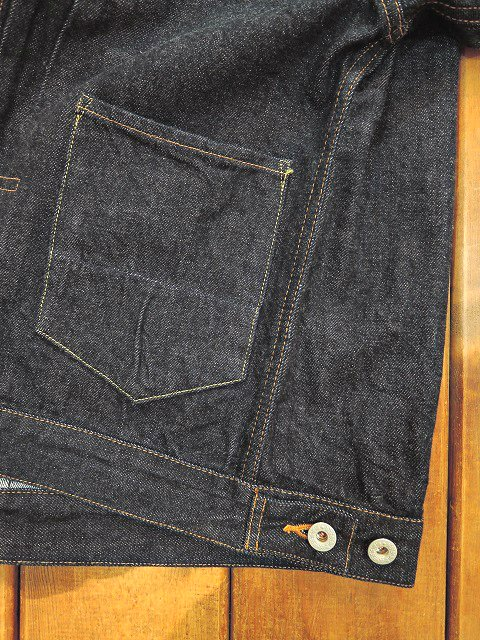 【H.UNIT STORE LABEL】1st type indigo denim jacket(Washed):画像4