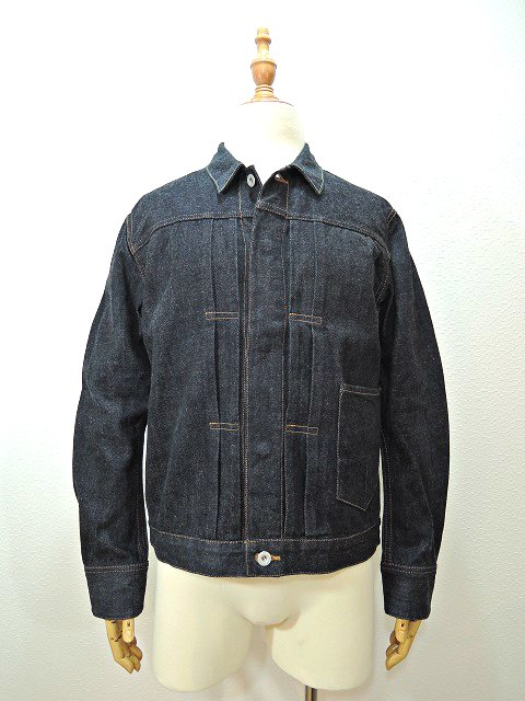 【H.UNIT STORE LABEL】1st type indigo denim jacket(Washed)