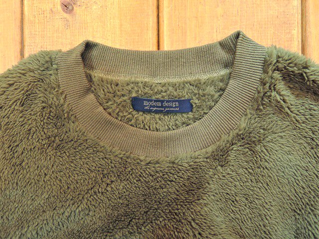 【modem design】BOA FLEECE×QUILTING PULL OVER(M-1703852):画像2