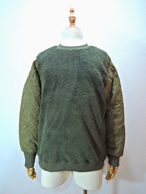 【modem design】BOA FLEECE×QUILTING PULL OVER(M-1703852)