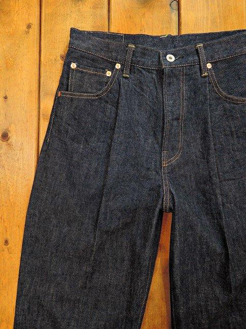 【H.UNIT STORE LABEL】Indigo denim tuck 5P(Washed):メイン画像