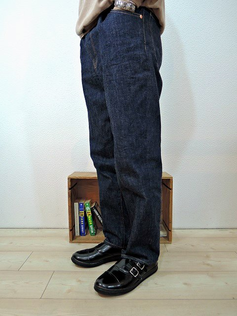【H.UNIT STORE LABEL】Indigo denim tuck 5P(Washed):画像4