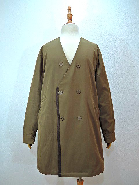 【modem design】NO COLLAR W-COAT(M-1707852)